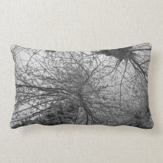 Árvore de vidoeiro preto e branco almofada lombar