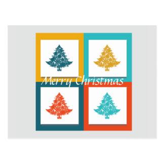 Árvore decorativa do Feliz Natal Cartão Postal