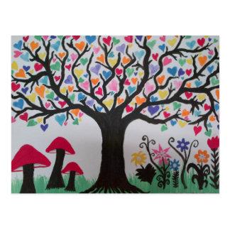 Árvore do amor cartão postal