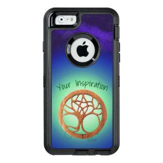 Árvore do Druid sob um texto customizável do céu