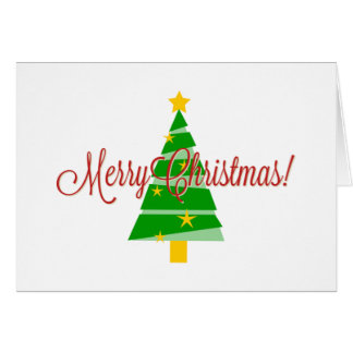 Árvore do Feliz Natal Cartão Comemorativo