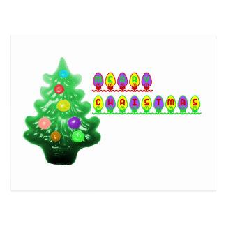 Árvore do Feliz Natal Cartão Postal