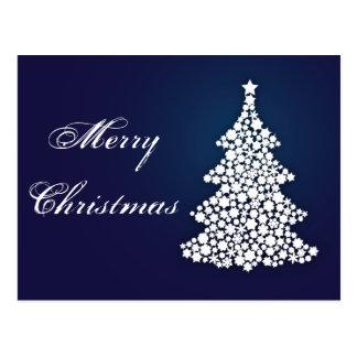 Árvore do Feliz Natal da luz Cartão Postal