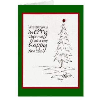 Árvore do feriado cartão comemorativo