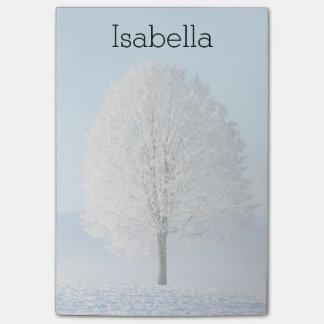Árvore do inverno bloquinho de notas