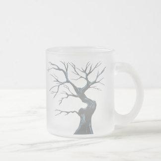 Árvore do inverno caneca de café vidro jateado