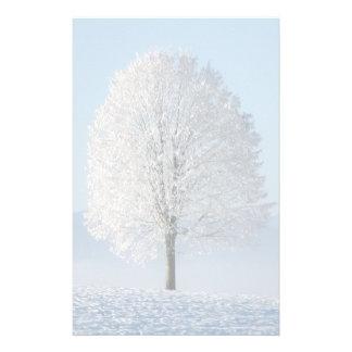Árvore do inverno papelaria