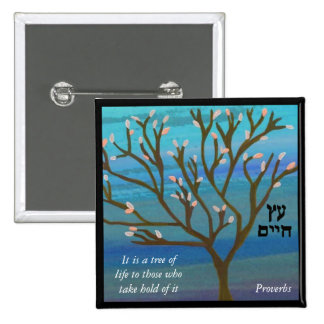 Árvore do Pin da vida Bóton Quadrado 5.08cm