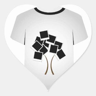Árvore do Polaroid do molde da camisa de T Adesivo Coração