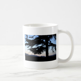 Árvore do por do sol caneca