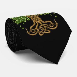 Árvore do preto do laço da vida gravata