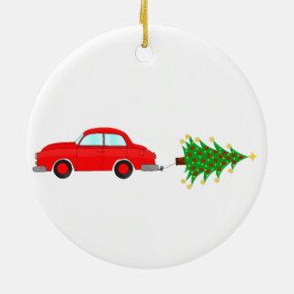 Árvore do reboque do carro do Natal Ornamento De Cerâmica