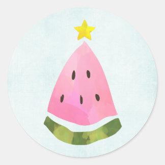 Árvore do Xmas do Natal da melancia do verão Adesivo