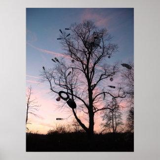 Árvore dos desperdícios pôster