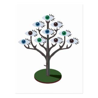 Árvore dos olhos cartão postal
