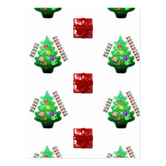 Árvore e presente do Feliz Natal Cartao Postal