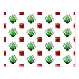 Árvore e presente do Feliz Natal Cartão Postal