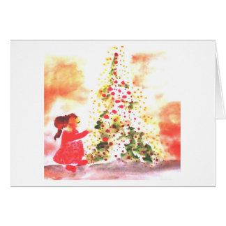 árvore feliz cartão comemorativo
