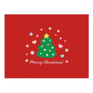 Árvore festiva bonito colorida do Feliz Natal Cartão Postal