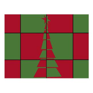 Árvore festiva cartão postal