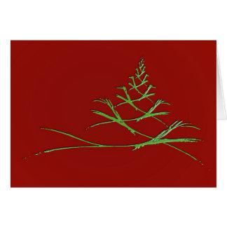 Árvore festiva do fractal cartão