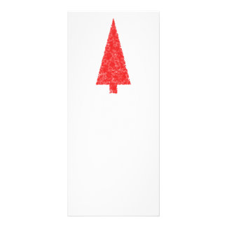 Árvore festiva vermelha. Vermelho e branco. Natal 10.16 X 22.86cm Panfleto