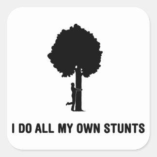 Árvore Hugger Adesivo Quadrado