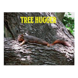 Árvore Hugger! Cartão Postal