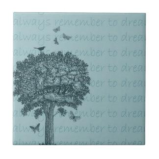Árvore ideal azulejo de cerâmica