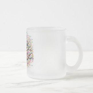 Árvore ideal caneca de café vidro jateado
