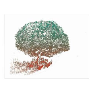 Árvore inovativa cartão postal