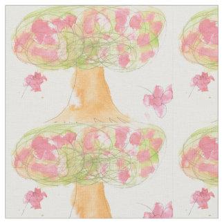 Árvore na flor tecido