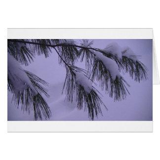 Árvore nevado cartão de nota