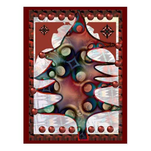 Árvore no espírito festivo cartão postal