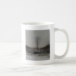 Árvore no inverno caneca de café