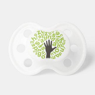 Árvore o alfabeto chupeta de bebê