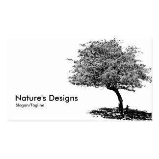 Árvore preta & branca cartão de visita