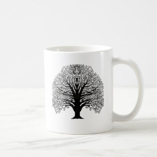 Árvore preta do redemoinho caneca