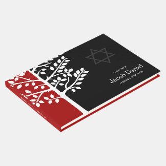 Árvore preta vermelha do bar Mitzvah da vida Livro De Visitas