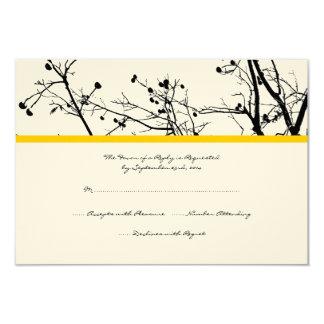 Árvore preto e branco do inverno que Wedding RSVP Convite 8.89 X 12.7cm