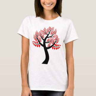 Árvore simples dos corações camiseta