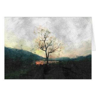 Árvore só cartão comemorativo