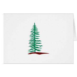 Árvore verde cartão comemorativo