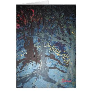 Árvores azuis cartão comemorativo