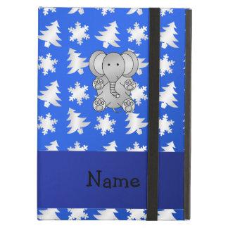 Árvores azuis personalizadas dos flocos de neve do
