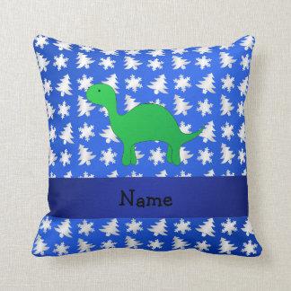 Árvores azuis personalizadas dos flocos de neve do travesseiro