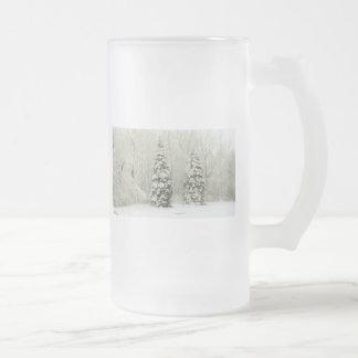 árvores caneca de cerveja vidro jateado