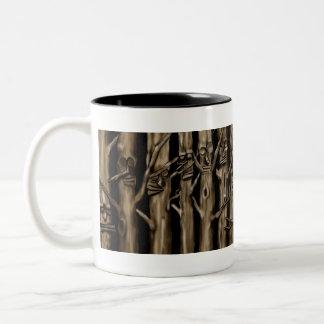 árvores caneca dois tons