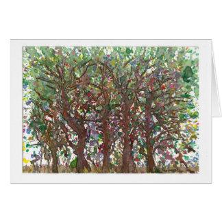 Árvores Cartão De Nota