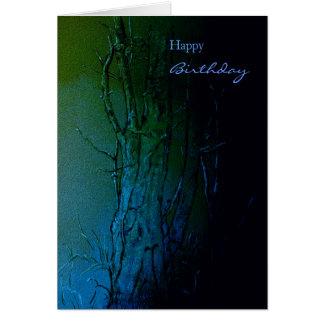 Árvores com amor cartão comemorativo